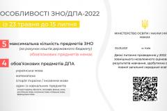 Інформація про ЗНО/ДПА 2022